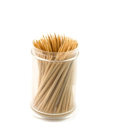 toothpicks is isolated on white