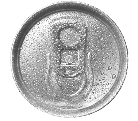 beer can: can view above on white background (isolated).