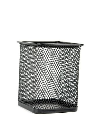 wastebasket: a wastebasket is isolated on white