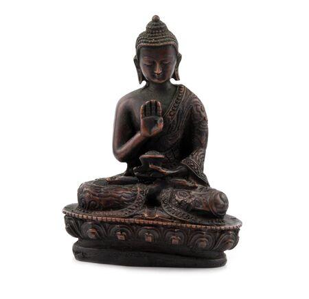 eligion: a bronze statuette of Buddha Stock Photo