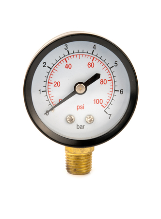 pascal: a pressure meter isolated on white