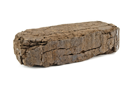 peat fuel block for use in an open fire