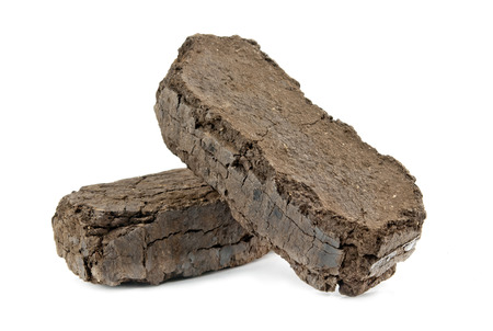 peat fuel blocks for use in an open fire