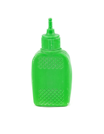 pva: plastic glue container isolated on white