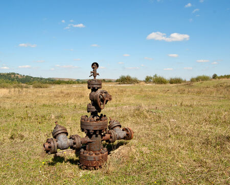 wellhead: filled up wellhead in the oil and gas industry