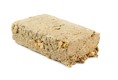 confect: halva isolated on a white background