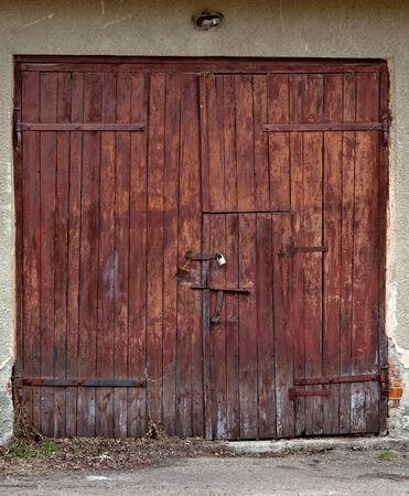 old wooden barn door  photo