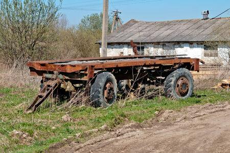 ferruginous: old ferruginous trailer close up Stock Photo