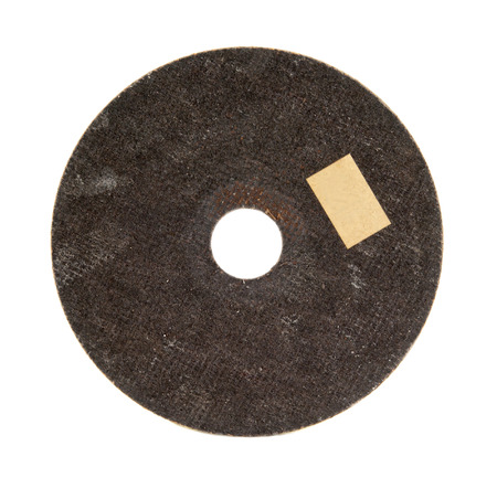 stainless steal: old abrasive disk for metal and stone grinding