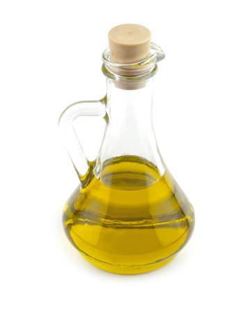 olive oil in a bottle on white Stock Photo - 38772585