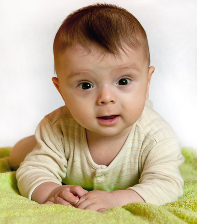 baby boy, 6 months old photo