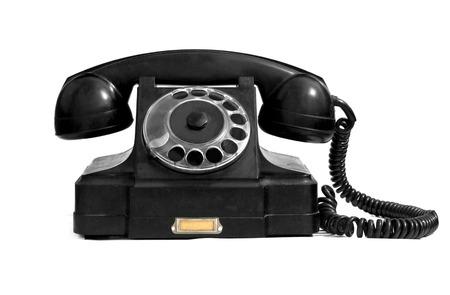 bakelite: old phone isolated on white