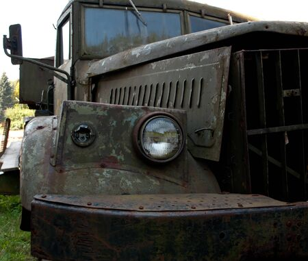 old truck: a old truck close up