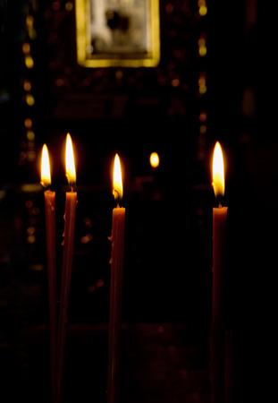 cereus: candles in a church