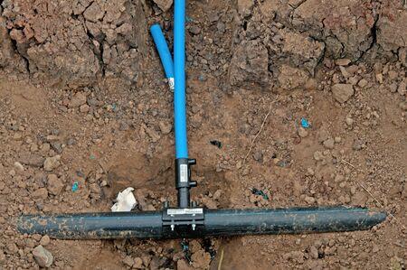 tuberias de agua: unas tuber�as de agua se cierran para arriba