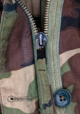 solider: zip on solider jacket Stock Photo
