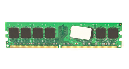 megabyte: computer memory isolated on white