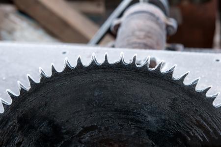 circular saw: a circular saw close up