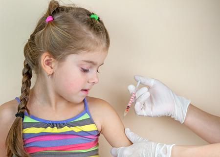 child vaccinations close up Foto de archivo