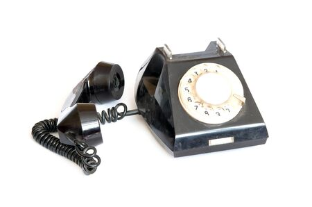 dialplate: Vintage phone and receiver on white