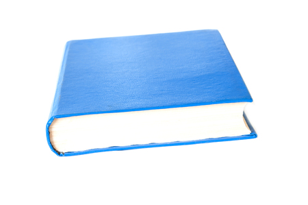 hardcover book: simple blue hardcover book isolated on white background