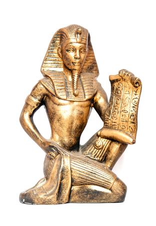 egyptian cobra: old Egyptian pharaoh Statue