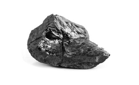 large coal lump isolated on white background