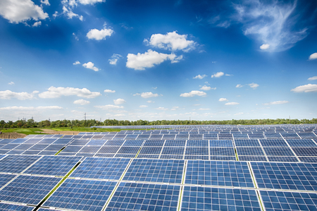 image of a big solar plant Stock Photo - 82015885