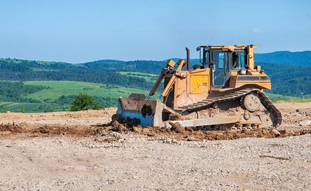 bulldozer a moving land shovel