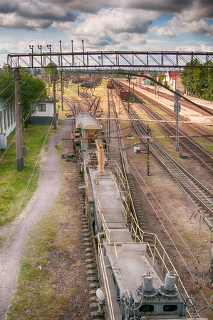 tracks of the great railway transport Stock Photo