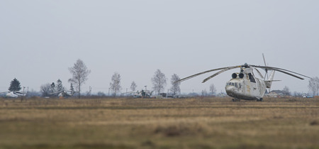 helicopter at the aerodrome