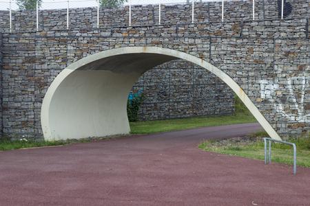 A Park path with bridge above