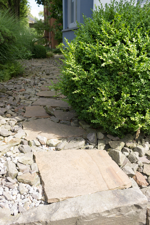 A garden path on stones with large stone slabs stock photo picture a garden path on stones with large stone slabs stock photo 82817182 workwithnaturefo