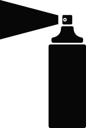 Can of black paint vector