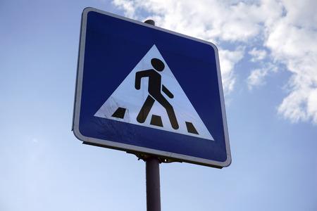 pedestrian crossing road sign