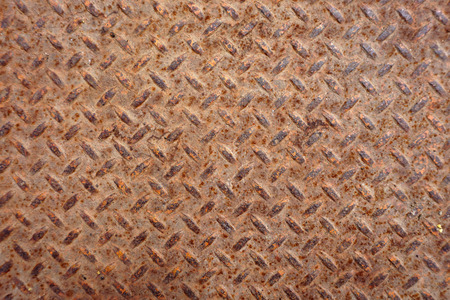 Rusted Steel Plate Background, with pattern. Stock Photo