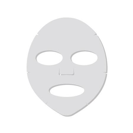 Concept de procédure de beauté. Masque facial isolé sur fond blanc. Cosmétologie, médecine et soins de santé. Illustration vectorielle dans un style plat