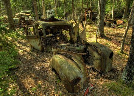 Rusty car photo