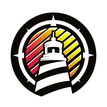 Logo Lighthouse in circle
