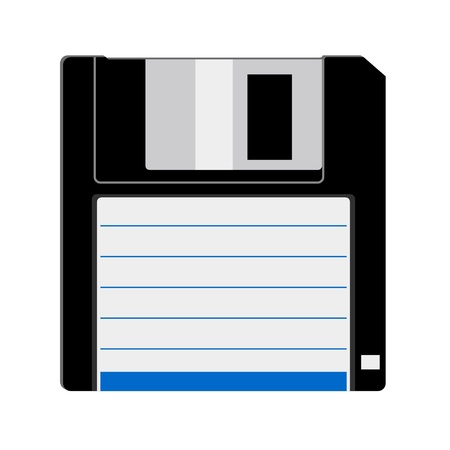 diskette: Floppy disk Illustration