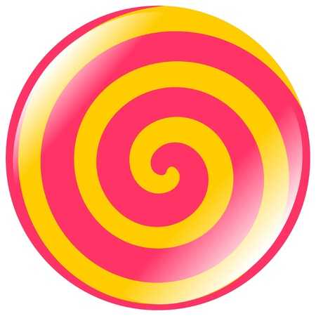 colored button of spiral shape Illustration