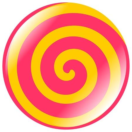 spiral: gekleurde toets van spiraalvorm