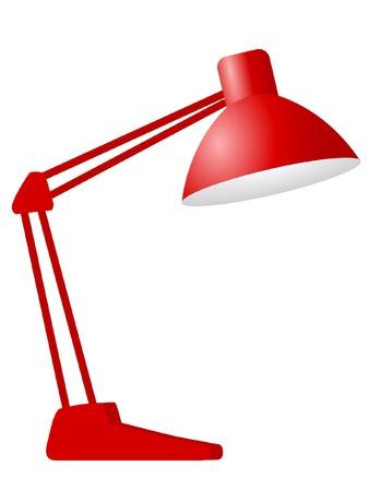 할로겐: 건설 책상 램프 일러스트