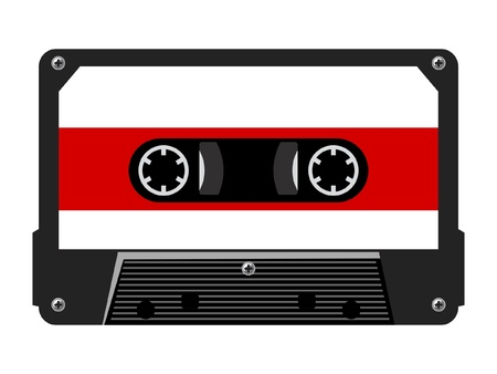 compact cassette: illustration of audio cassette