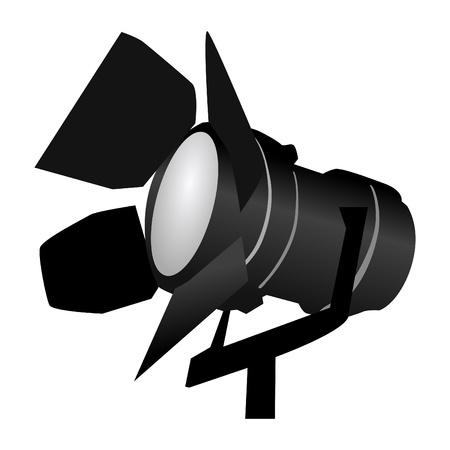 spotlight lamp: riflettori nero su bianco Vettoriali