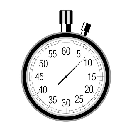 stopwatch: stopwatch on white