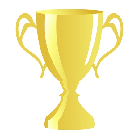 trophy on white Vector
