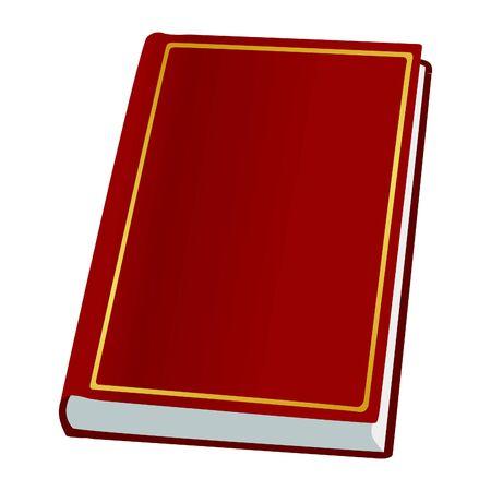 novel: Book on white