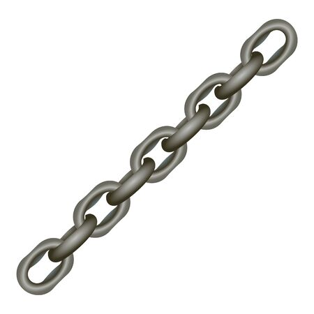 chain link: metallic chain on white