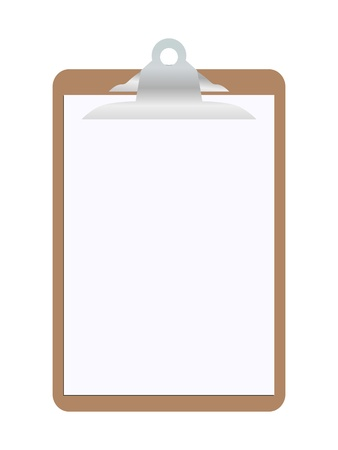 clipboard isolated: Blank clipboard